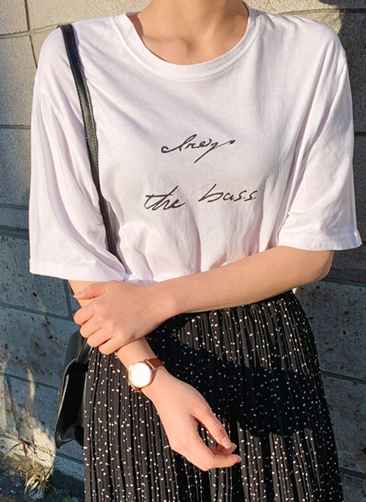 the bassプリント半袖Tシャツ