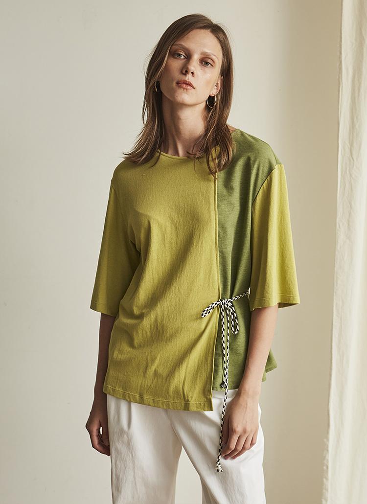 サイドストラップTシャツ(グリーン)