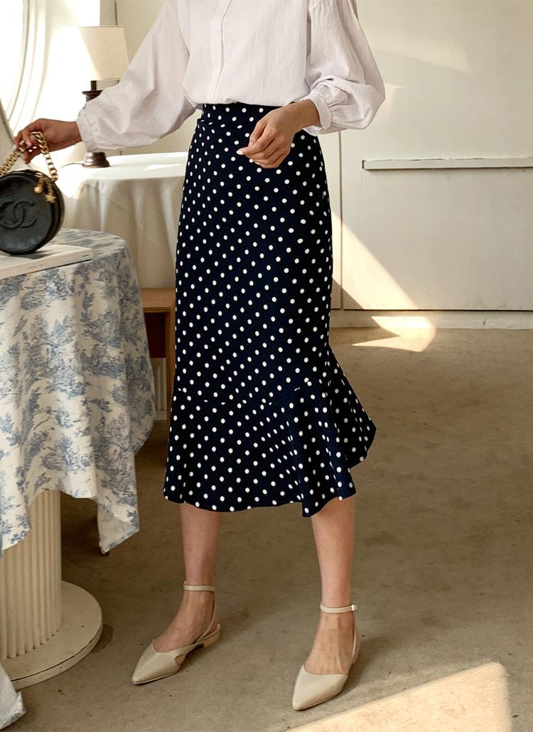 マーメイドドットスカート・全3色