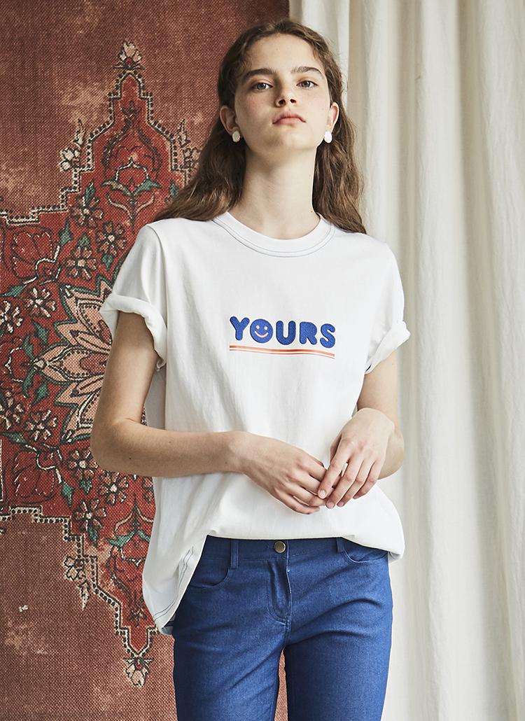 スマイルYOURSロゴTシャツ(ホワイト)