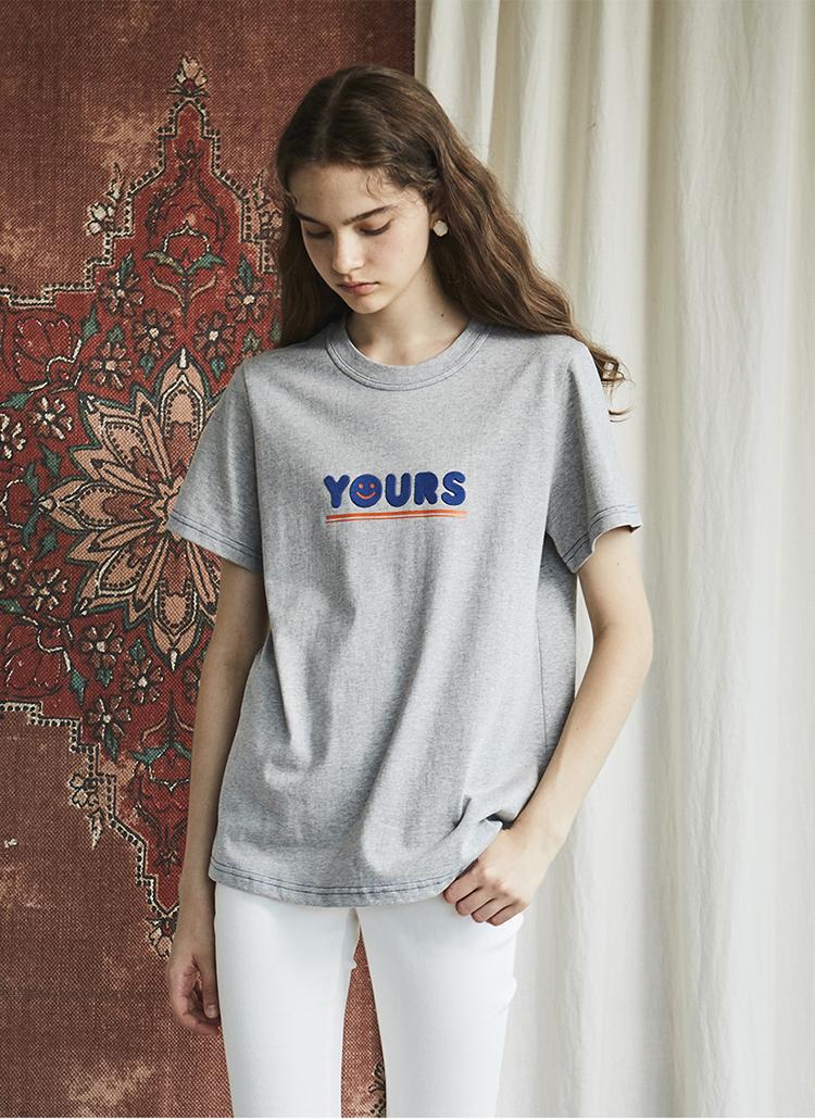 スマイルYOURSロゴTシャツ(グレー)