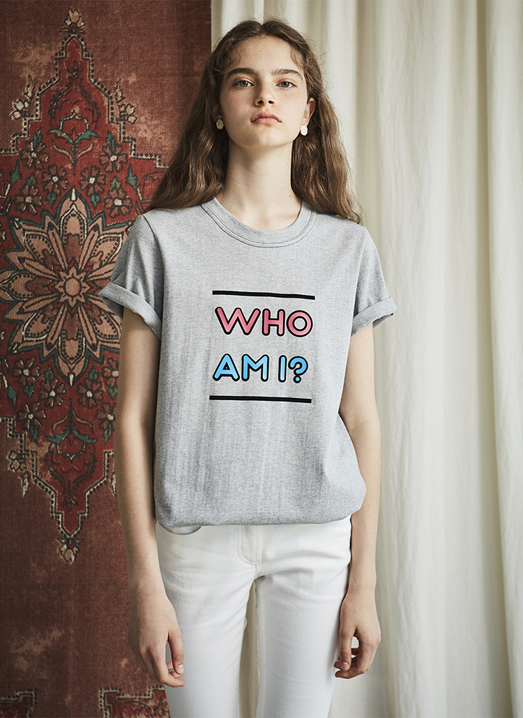 WHO AM I半袖Tシャツ(グレー)