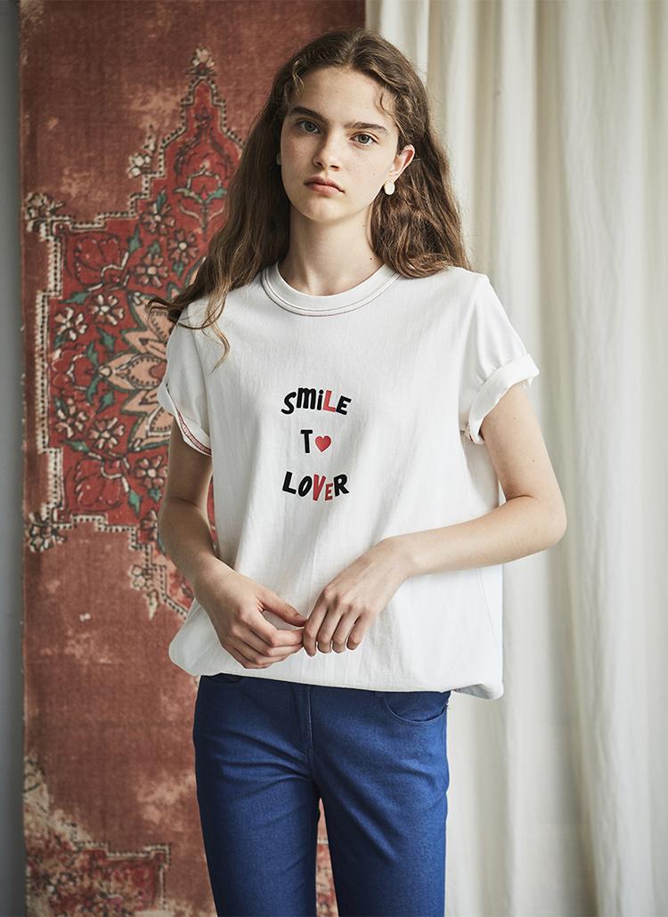 smileハートロゴTシャツ(ホワイト)