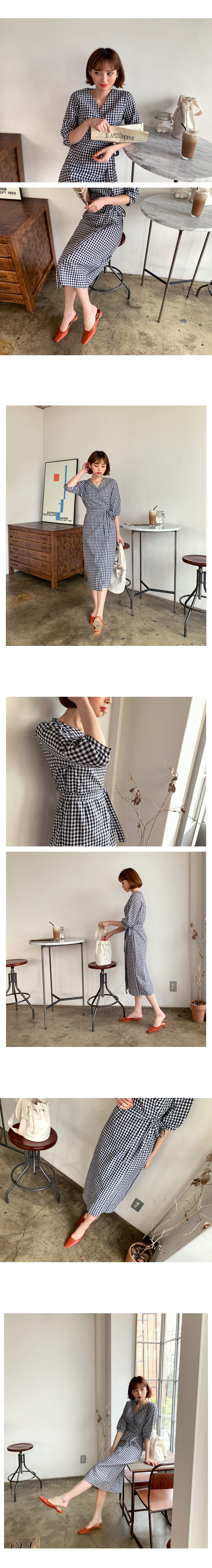 e4b7205361c21 ラップギンガムチェックワンピース・全3色ドレス・ワンピ
