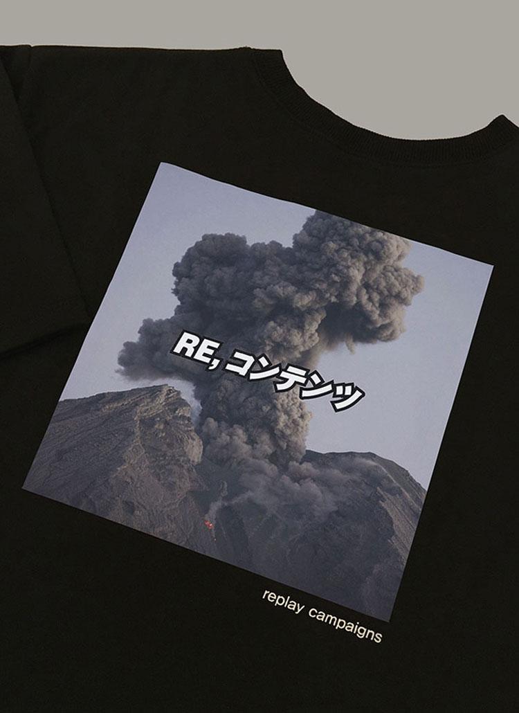ニューブラックリプレイキャンペーンTシャツ(チャコール)