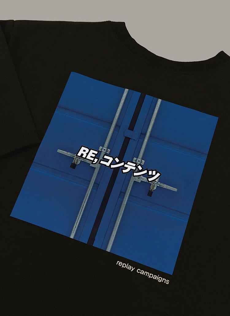 ニューブラックリプレイキャンペーンTシャツ(コバルトブルー)