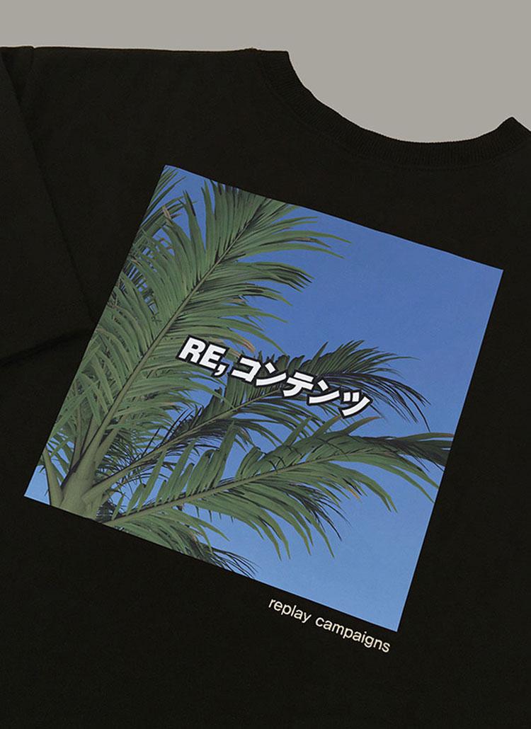 ニューブラックリプレイキャンペーンTシャツ(グリーン)