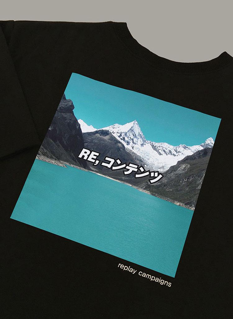 ニューブラックリプレイキャンペーンTシャツ(ミンティ)
