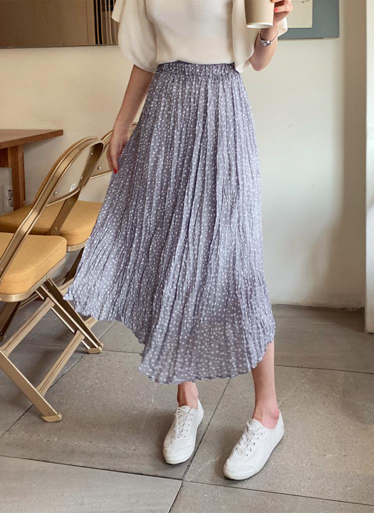 リンクルドットロングスカート・全3色