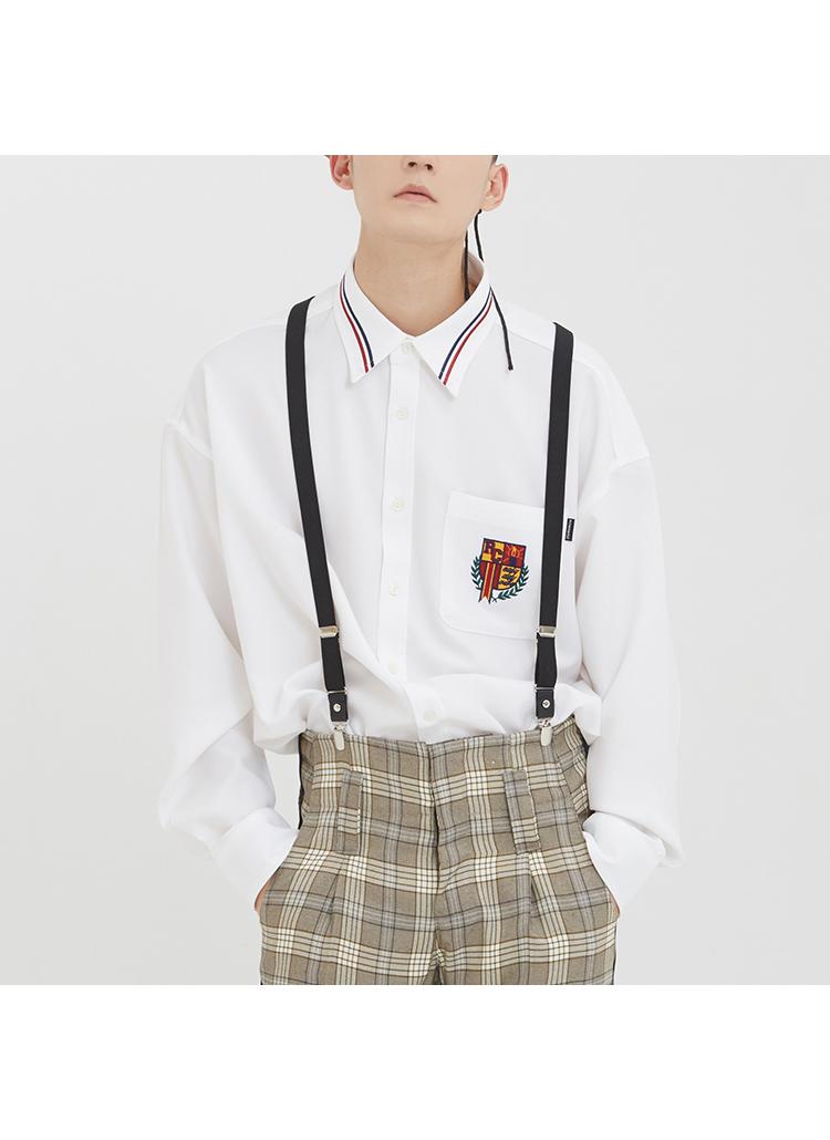 RMTCRWカラーパイピングシャツ(ホワイト)