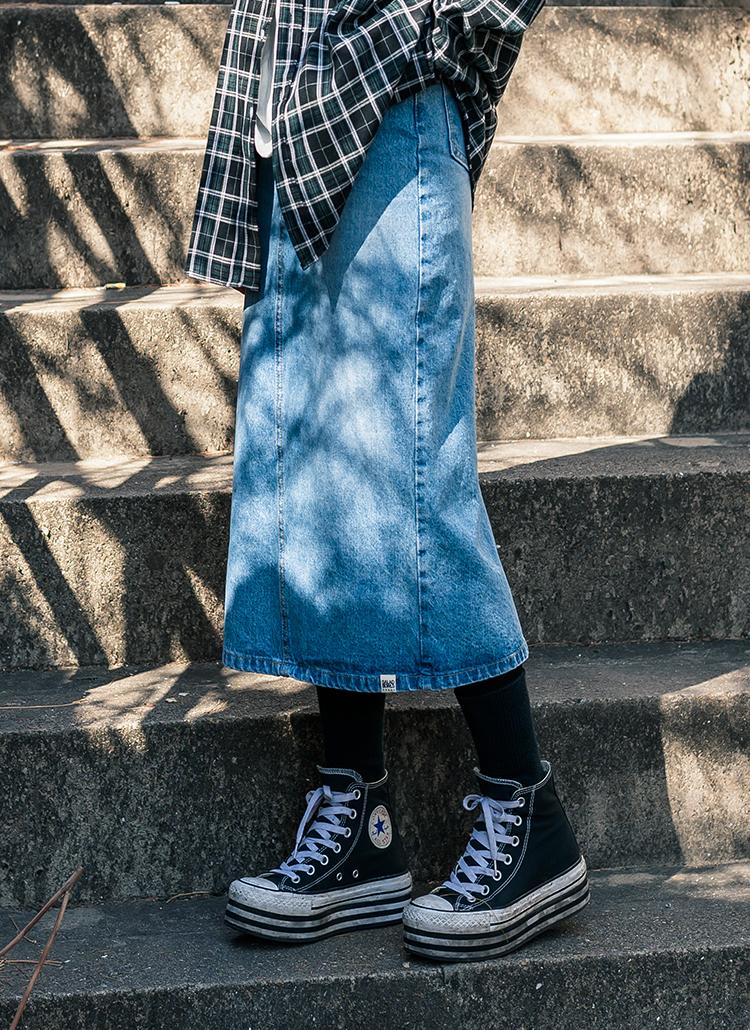 デニムロングスカート