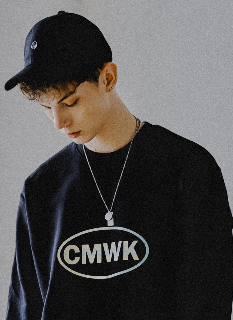 チェッカーボードロゴスウェットシャツ(ブラック)