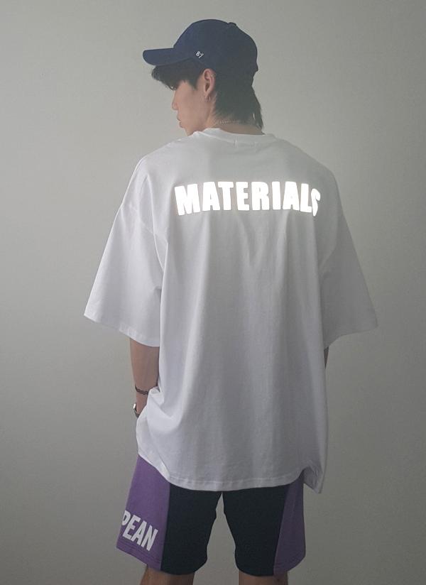 反射レタリングオーバーTシャツ