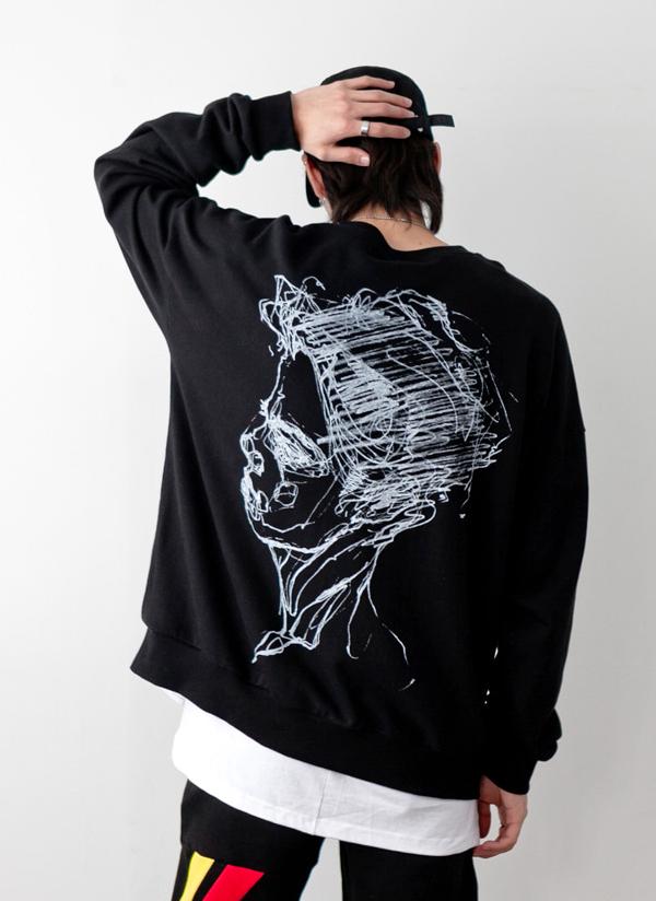 フェイススケッチTシャツ
