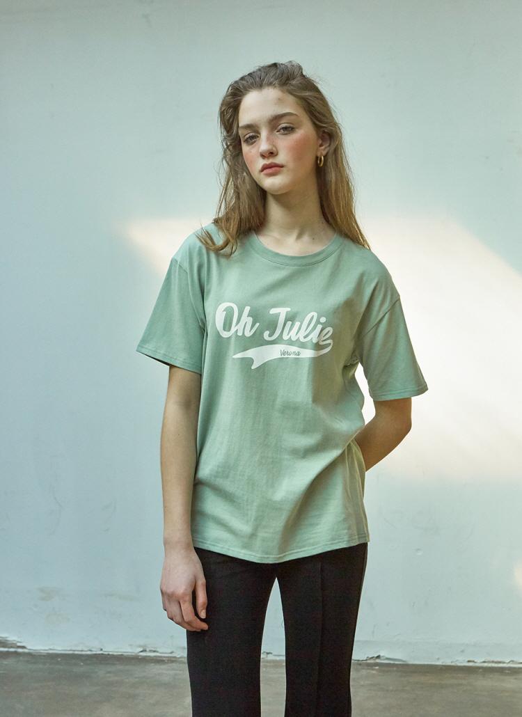 Julieロゴプリント半袖Tシャツ(ミント)