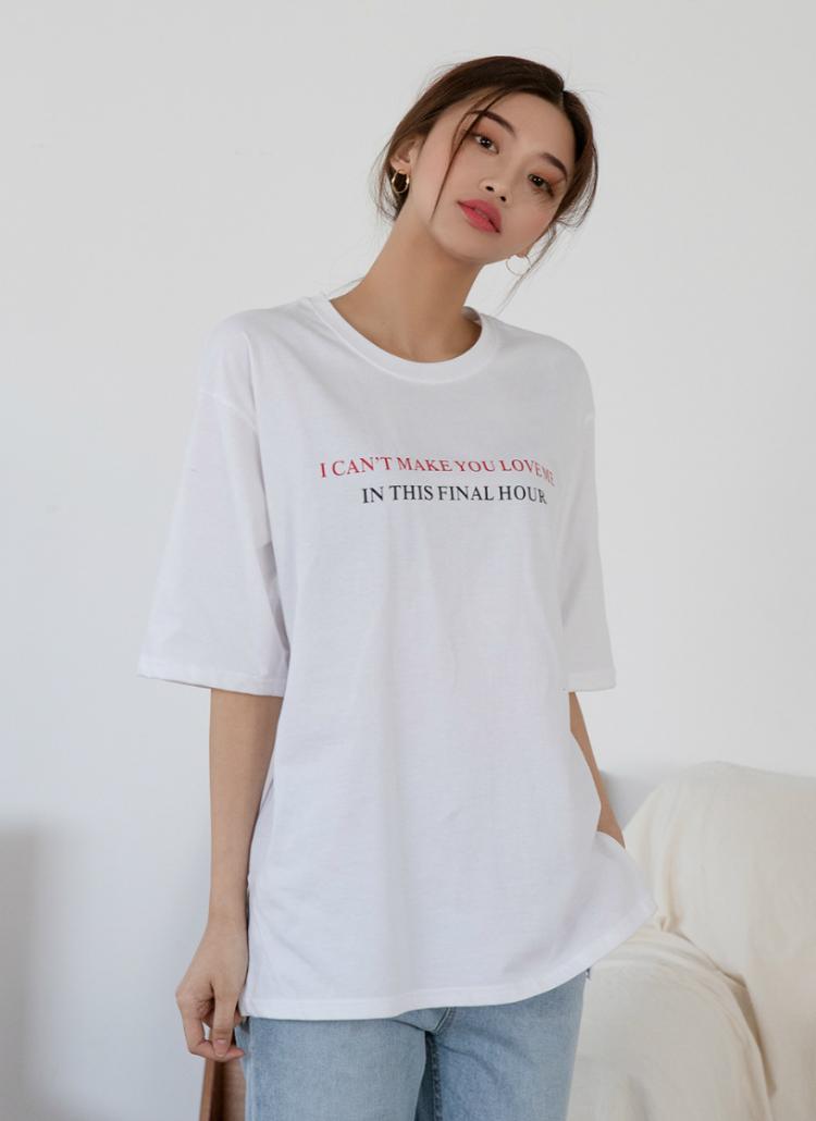Can'tレタリング半袖Tシャツ