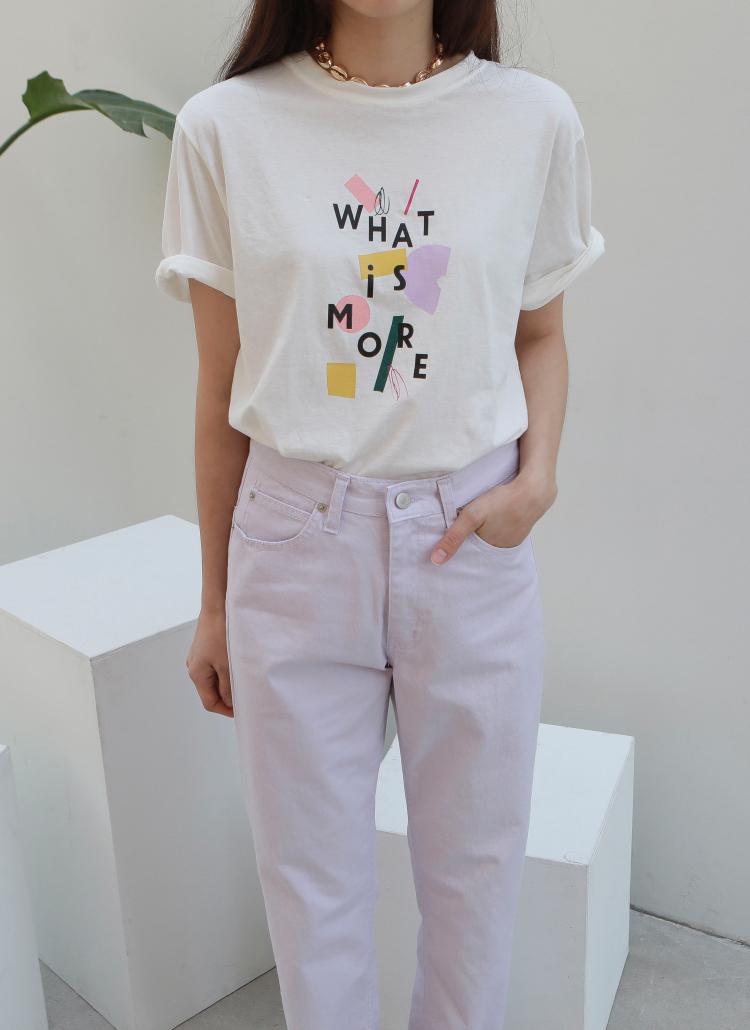 MOREブロックプリントTシャツ