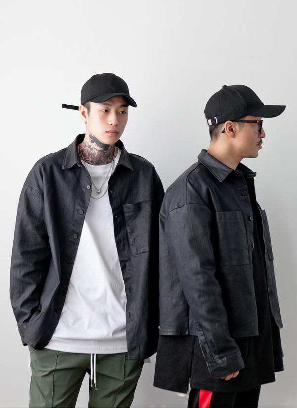 2TYPEコーティングブラックジャケット