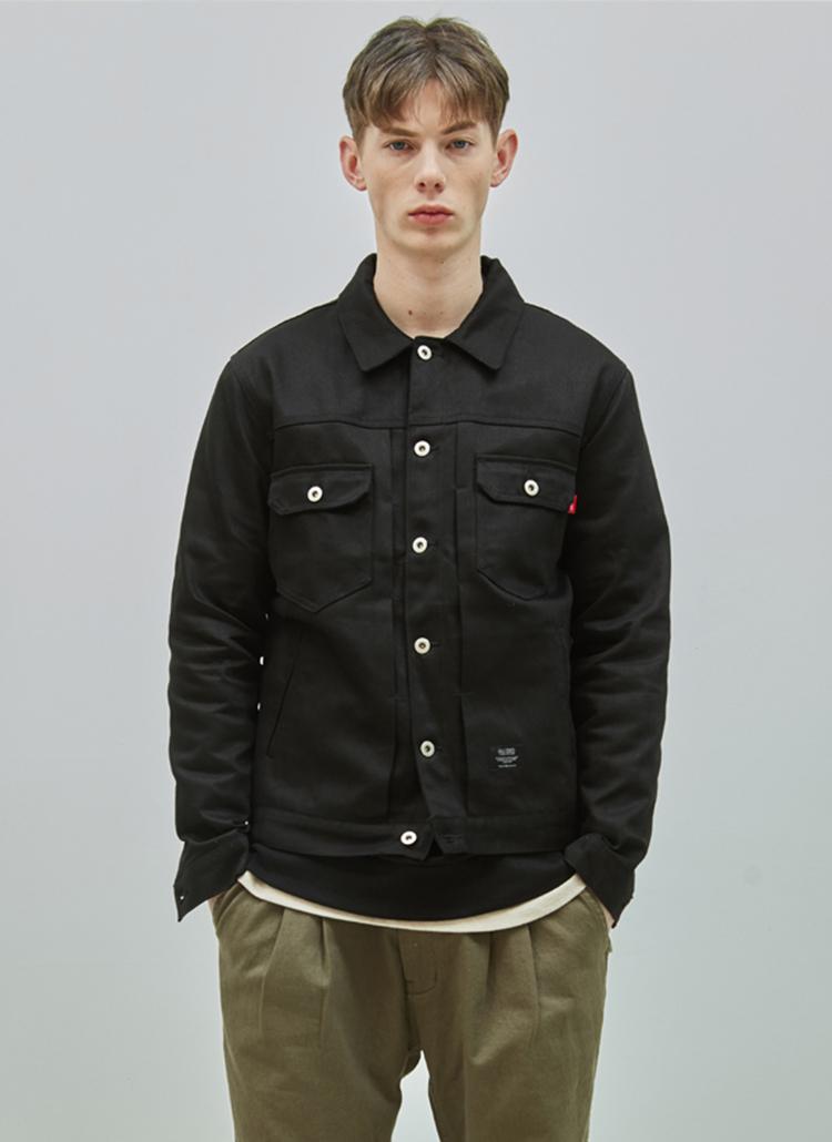 19SSコットントラッカージャケット(ブラック)