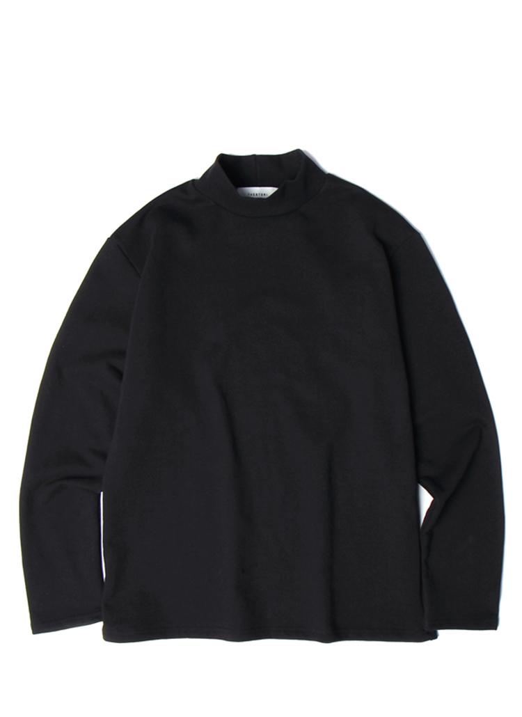19SSモックネックTシャツ(ブラック)