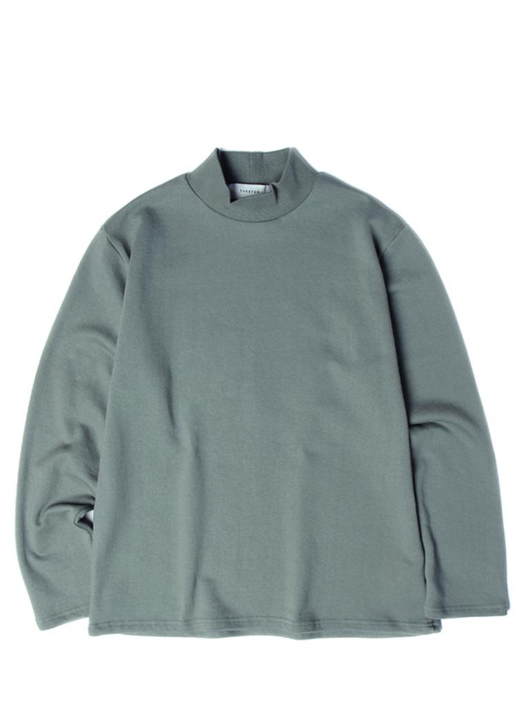 19SSモックネックTシャツ(ディープグリーン)
