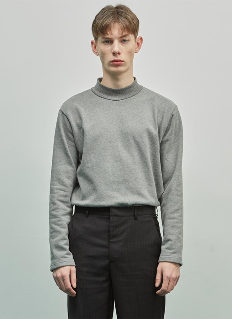 19SSモックネックTシャツ(グレー)