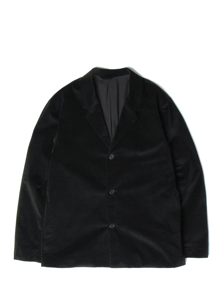 コーデュロイシングルジャケット(ブラック)