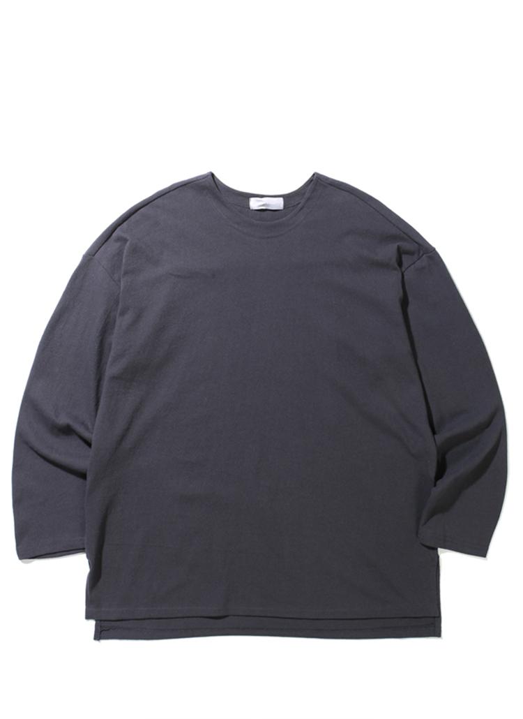 19SSオーバーフィットTシャツ(チャコール)