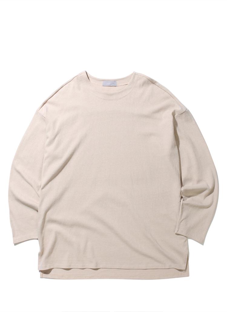 19SSオーバーフィットTシャツ(ライトベージュ)