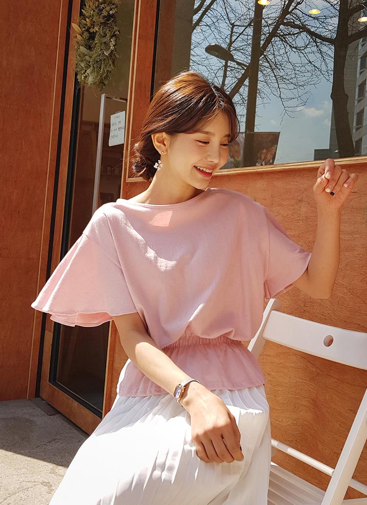 フレアスリーブブラウジングTシャツ・全3色