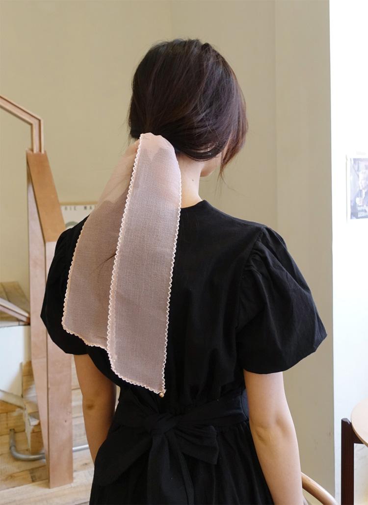 キュービックシアーヘアスカーフ・全6色