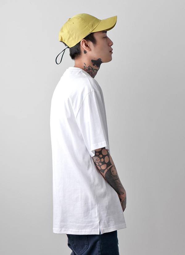 サイドスリットオーバー半袖Tシャツ