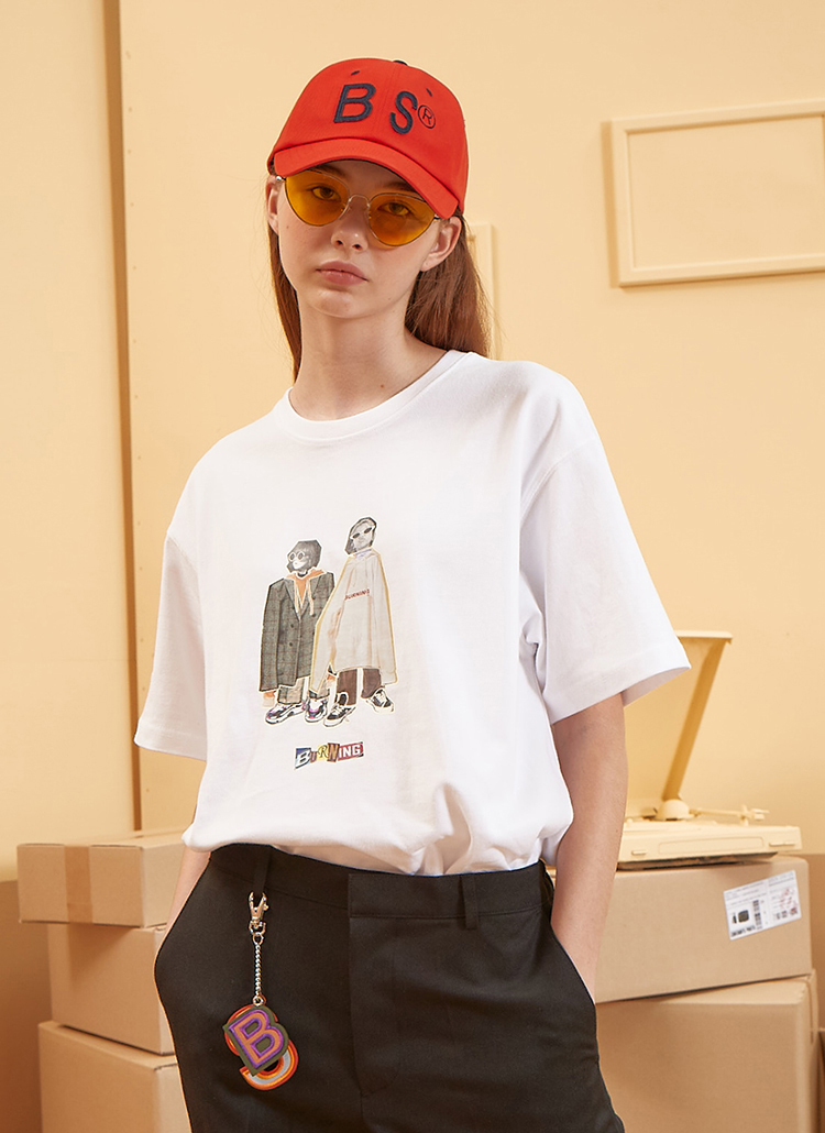 <font color=red><b><予約商品></b></font>Two Baby半袖Tシャツ(ホワイト)