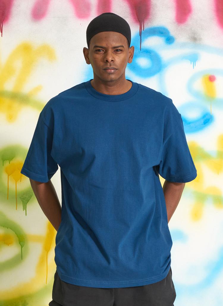 スタンダードUSAフィットTシャツ(ネイビー)