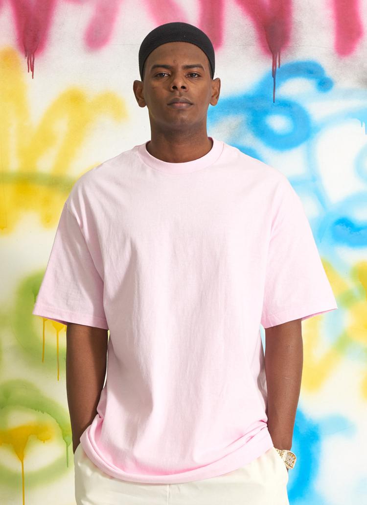 スタンダードUSAフィットTシャツ(ライトピンク)