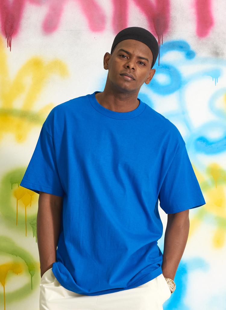スタンダードUSAフィットTシャツ(ブルー)