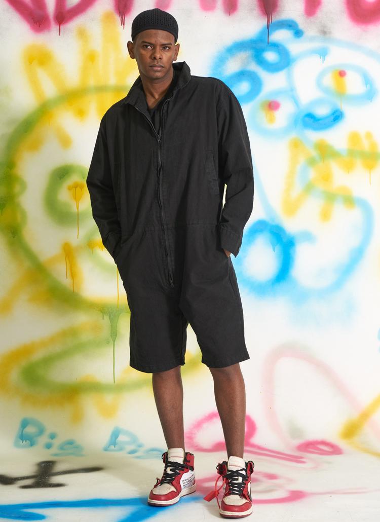 アーミージャンプスーツ(ブラック)