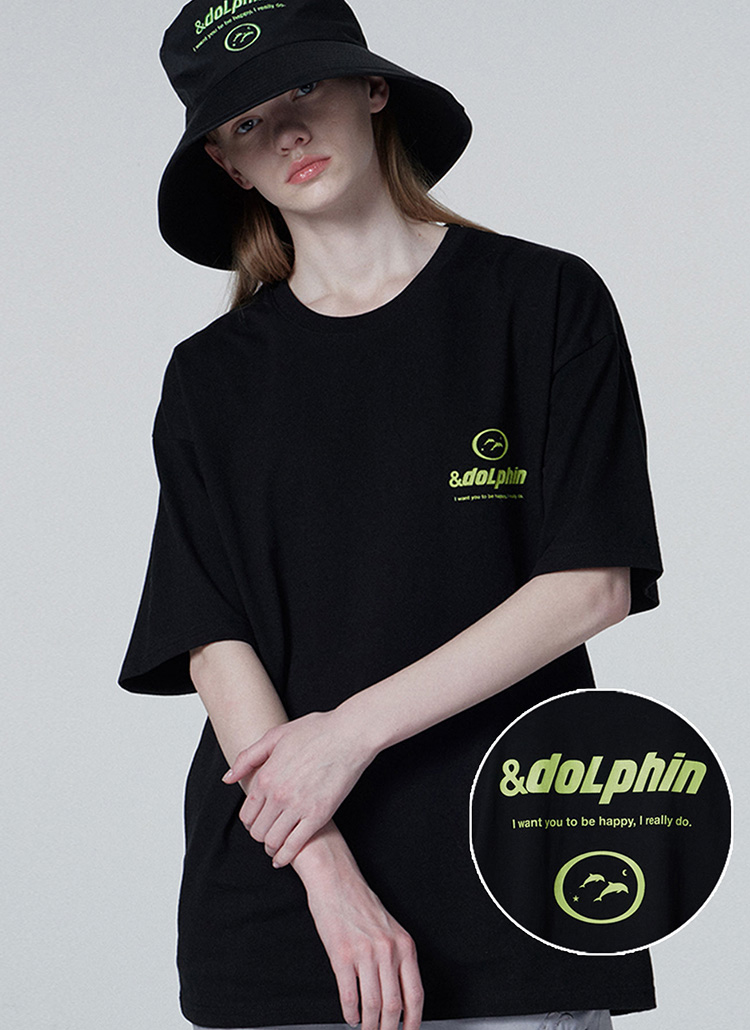 ドルフィンTシャツ(ブラック)