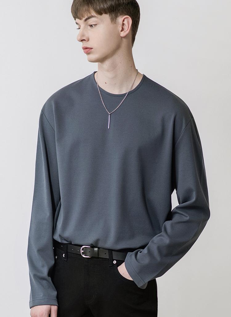 19SSレイヤードTシャツ(チャコール)