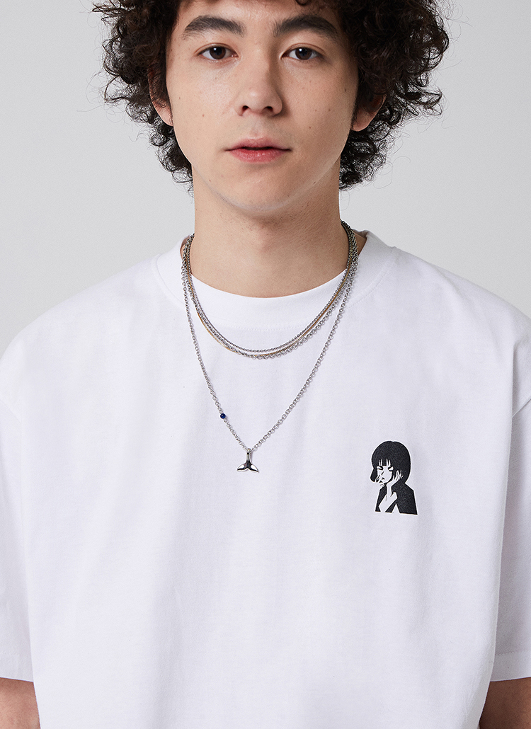 CARTOONプリントTシャツ(ホワイト)