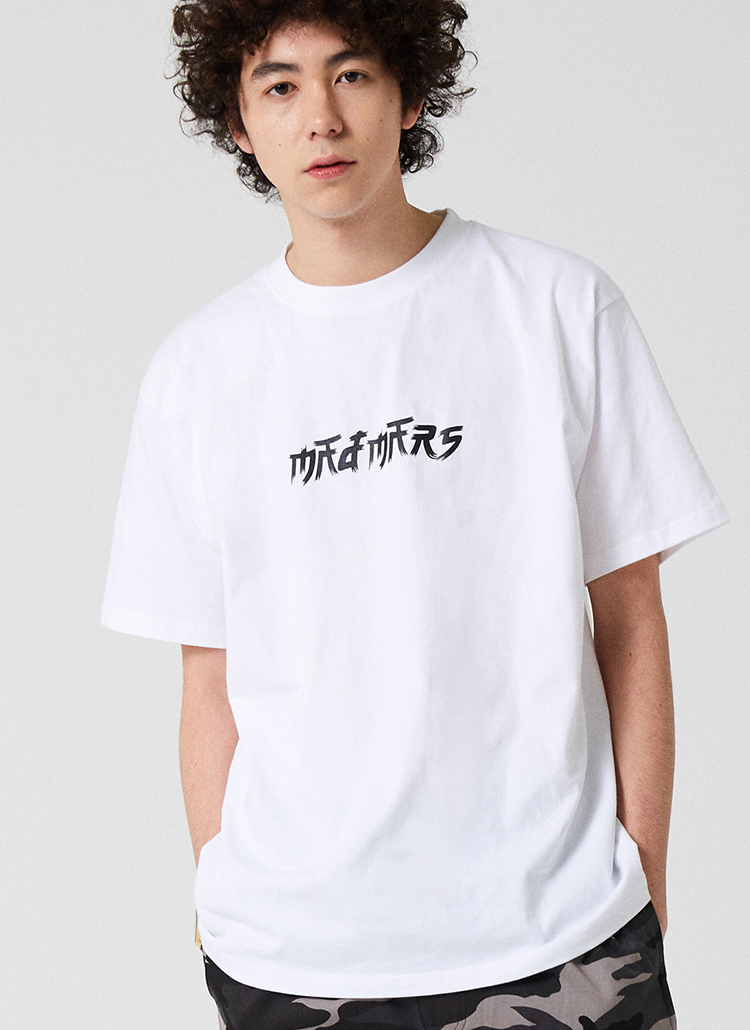 BRUSHロゴ半袖Tシャツ(ホワイト)