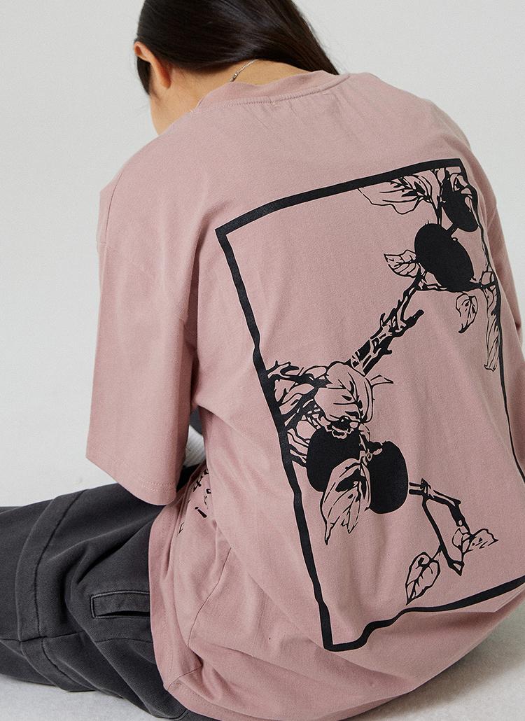 PERSIMMON半袖Tシャツ(サーモンピンク)