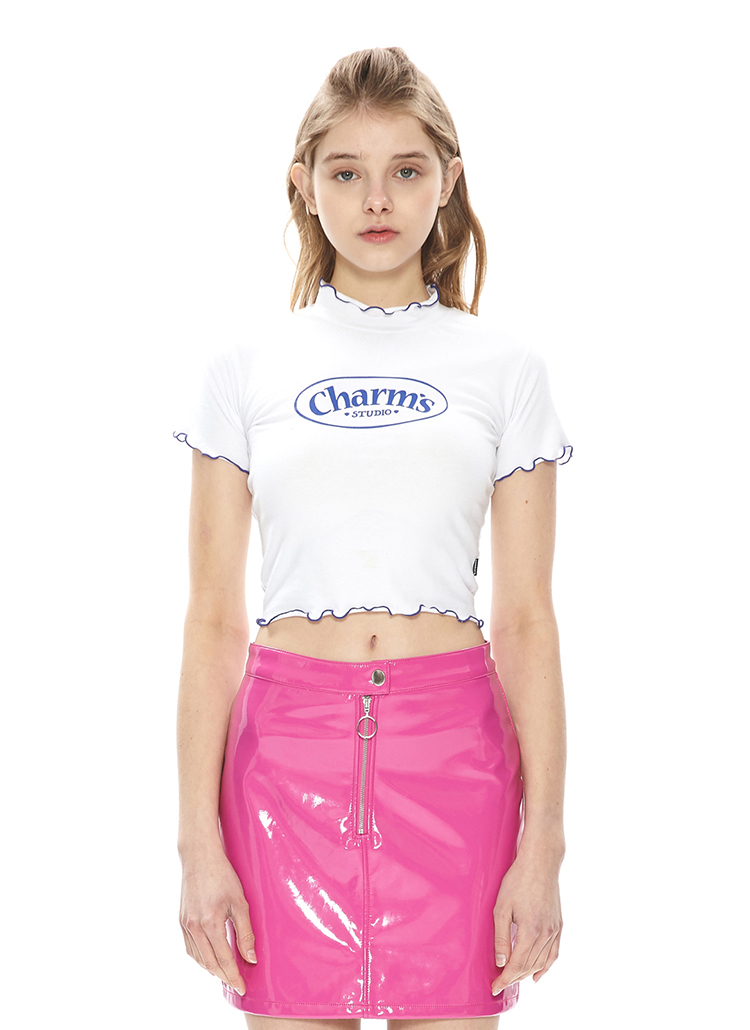 WINDINGメロウクロップTシャツ(ホワイト)