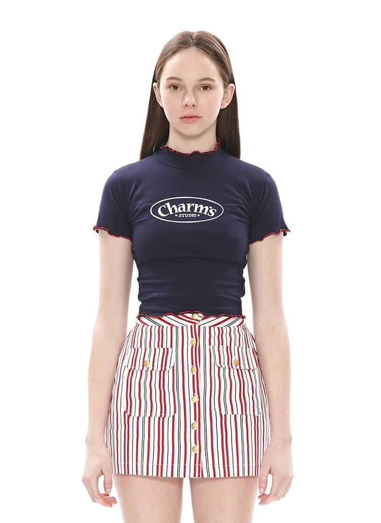 WINDINGメロウクロップTシャツ(ブルー)