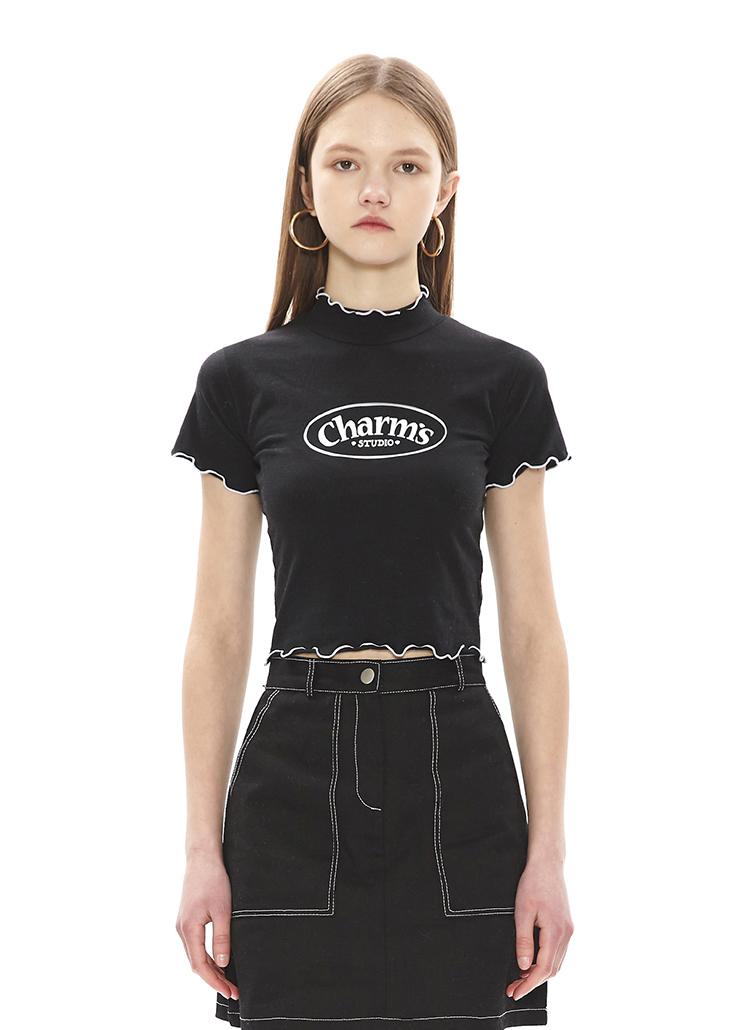 WINDINGメロウクロップTシャツ(ブラック)