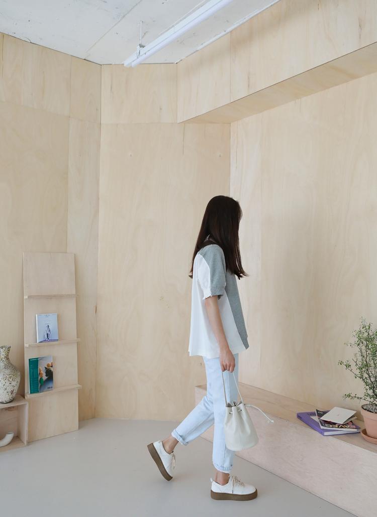 bbe58697554568 異素材スウェットブラウス|レディースファッション通販 DHOLICディー ...