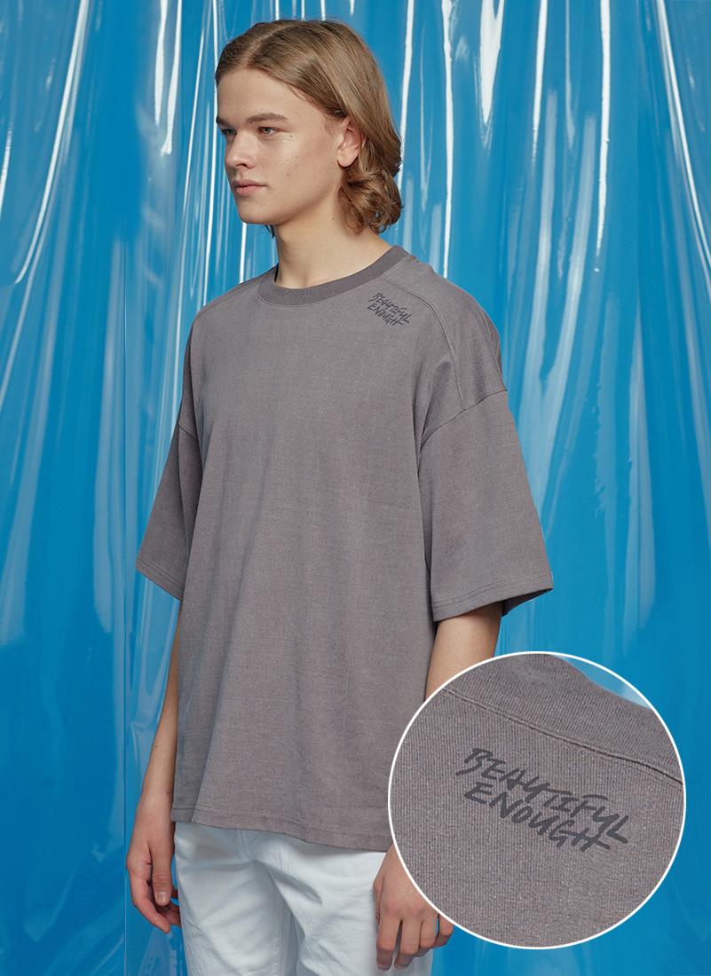 レタリングオーバーサイズTシャツ(チャコール)