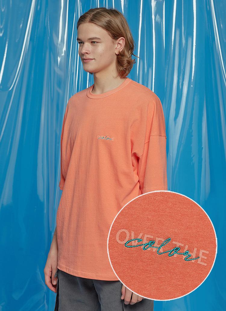 デイリーオーバーサイズTシャツ(オレンジ)
