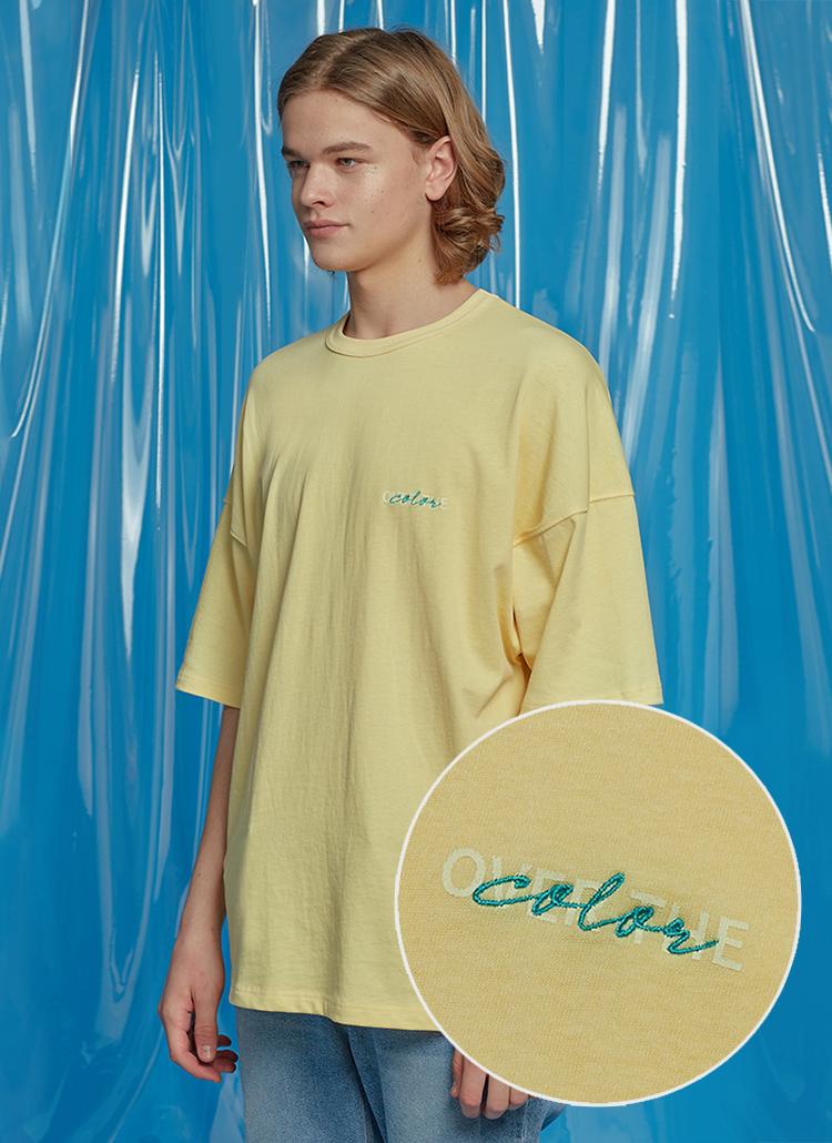 デイリーオーバーサイズTシャツ(イエロー)