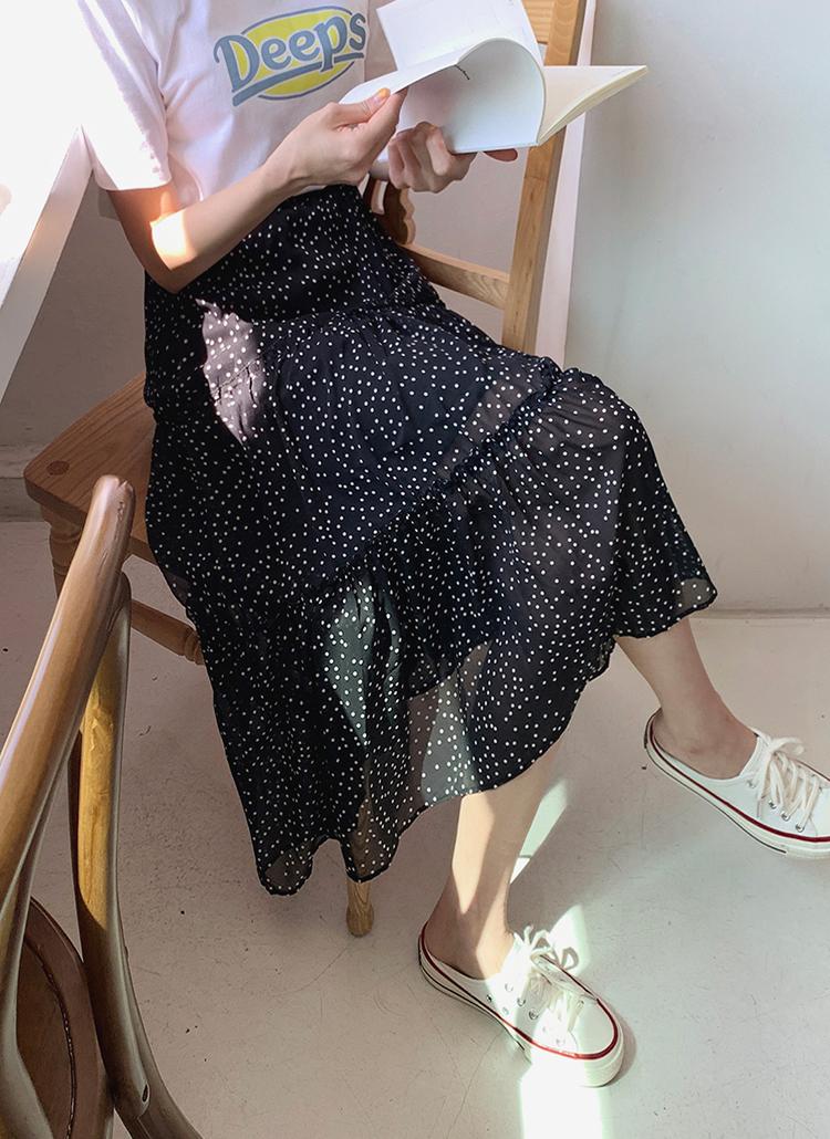 2TYPEギャザーロングスカート・全4色